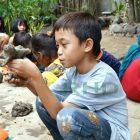 Membuat Tedong-tedong dan karya lain dari tanah liat di Rumah Hijau Denassa (RHD)