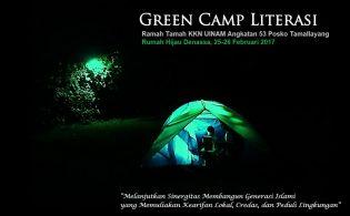 RHD. Green Camp Literasi tahun 2017 akan berlangsung di Kampung Literasi Borongtala (25-26.02.2017)